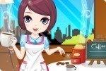 Jeune fille au café 2